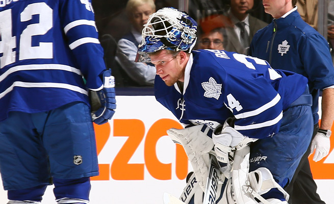 After an injury to James Reimer against the Hurricanes, the Maple Leafs called upon two local college goalies.
