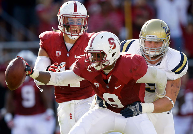 Stanford safety Jordan Richards made two interceptions in the Cardinal's win over UCLA on Saturday.