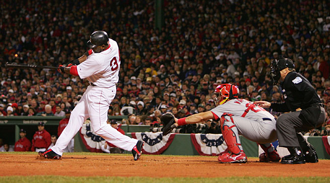 David Ortiz is the only Red Sox player left from Boston's 2004 World Series win over St. Louis, while then-catcher Mike Matheny is now the Cardinals' manager.