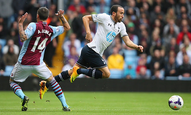 Andros Townsend continued his successful week with a goal against Aston Villa.