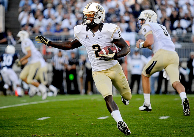 UCF wide receiver Jeff Godfrey, pictured here on Sept. 14, made the game-winning TD grab at Louisville.