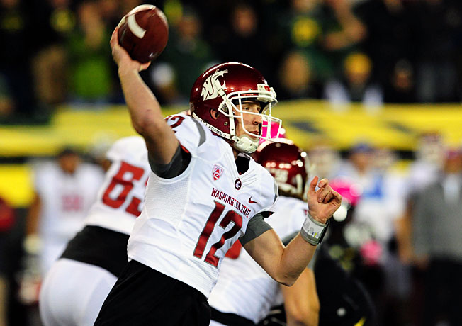 Washington State QB Connor Halliday broke an FBS record by attempting 89 passes in a loss to Oregon.
