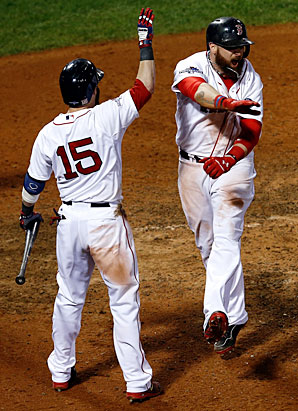 Newcomers like Jonny Gomes (right) brought a new look to the Red Sox this year in more ways than one.