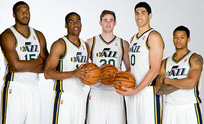 Utah's young core (from left): Derrick Favors, Alec Burks, Gordon Hayward, Enes Kanter and Trey Burke.
