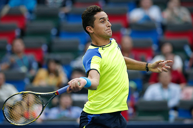 Nicolas Almagro, who beat Pablo Andujar 6-2, 6-3, is playing for his third title in Valencia.