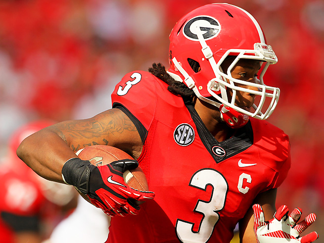 Todd Gurley has been unable to suit up for Georgia since he was injured against LSU.