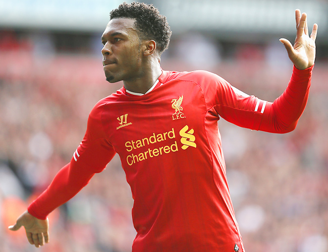 Liverpool striker Daniel Sturridge leads the Premier League with seven goals in his first eight games.