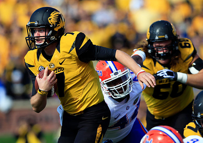 Missouri QB Maty Mauk (7) amassed 310 total yards in his first career start last weekend against Florida.
