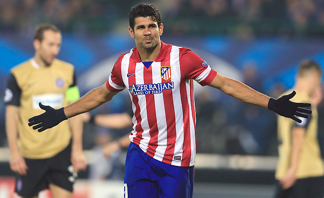 Diego Costa leads La Liga with 10 goals in nine games, more than Lionel Messi and Cristiano Ronaldo.
