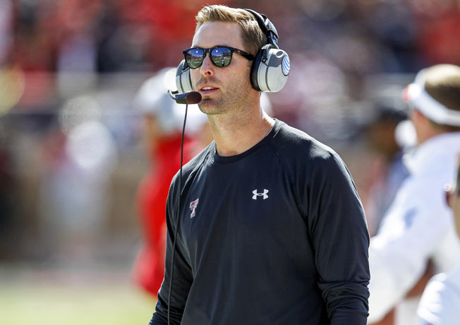 First-year Texas Tech coach Kliff Kingsbury has led the Red Raiders to a 7-0 start to the 2013 campaign.