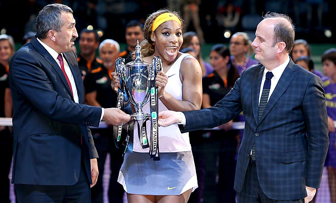 Serena Williams became the first to defend a WTA title since Justine Henin in 2007.