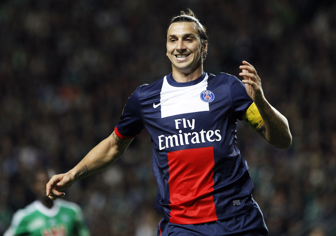 Zlatan Ibrahimovic and PSG stayed atop Ligue 1 after salvaging a tie against Saint-Etienne.