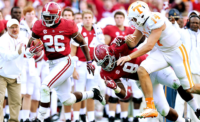 Landon Collins returned an interception 89 yards for a score in Alabama's thrashing of Tennessee.