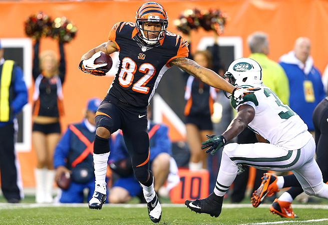 Marvin Jones stepped up in Week 8, catching four touchdowns in the Bengals' 49-9 rout of the Jets.