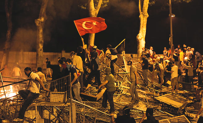 Anti-government protestors clashed with police in Istanbul throughout the summer.