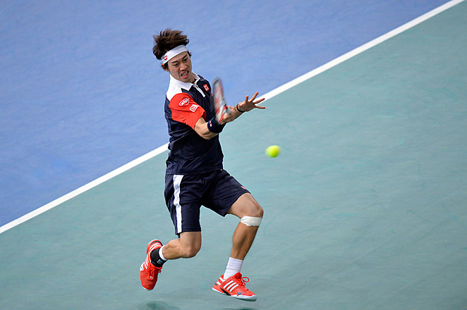 Nishikori beat Tsonga 1-6, 7-6 (4), 7-6 (7) on Tuesday in the second round of the Paris Masters.