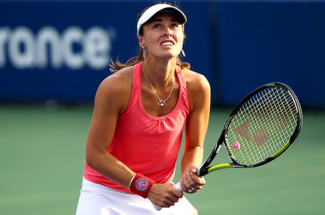 Martina Hingis returned to tennis briefly to play doubles with partner Daniela Hantuchova.