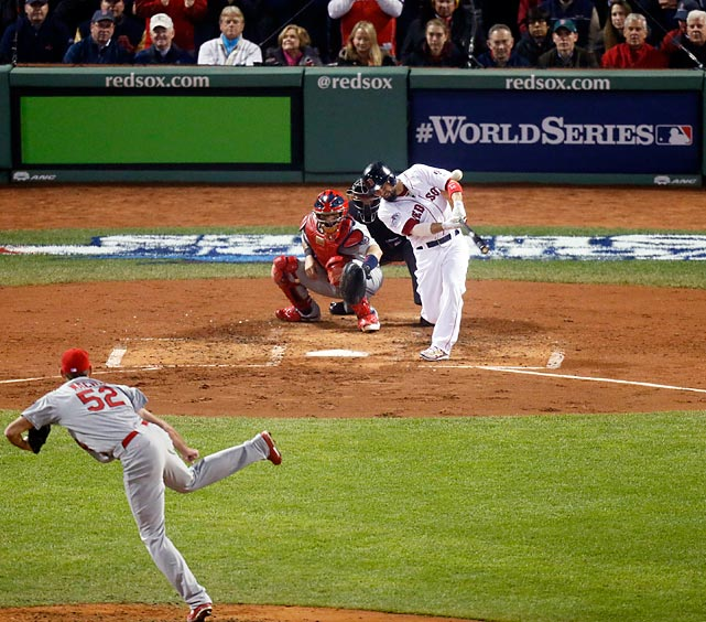Offseason signee Shane Victorino came up huge for the Red Sox, driving in four runs in Game Six.