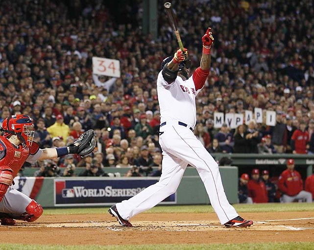 David Ortiz was named the 2013 World Series MVP after hitting .688 with a .760 on-base percentage, plus two home runs and six runs driven in. Ortiz now owns the highest World Series batting average among players with at least 50 plate appearances at .454.