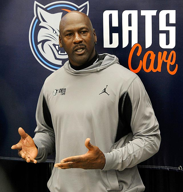 Michael Jordan is the team's 50-year-old majority owner, not 30-year-old starting shooting guard, meaning the Bobcats won't be making the playoffs this season. To make matters worse, Jordan was a lot better at mid-range jumpers than he is at mid-lottery draft picks. The Bobcats have yet to select a player who has become an All-Star and only one has been named to the All-Rookie first team (Emeka Okafor in 2005).