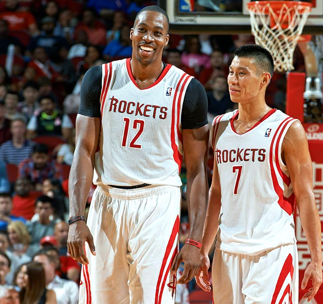 The Rockets began the season with Dwight Howard and Omer Asik in the starting lineup, a two-center approach that could hold back the offense. Asik is a strong rebounder and defender but has no shooting range, making him a less-than-ideal complement to Howard's low-post game. With both centers potentially clogging the lane, the Rockets -- who thrived last season behind an up-tempo attack -- could have spacing issues that keep James Harden and James Lin from flourishing.