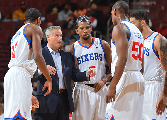 "The 76ers' own coach, Brett Brown, admitted before the season that his team has only ""six NBA players,"" which makes the opening win over the Heat that much more impressive. But unless Michael-Carter Williams can flirt with a quadruple-double every night, this rebuilding team is unlikely to knock off too many contenders. Philadelphia has already said it will likely sit No. 6 pick Nerlens Noel the entire year, too."