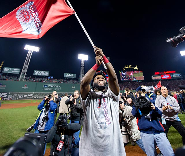 The Red Sox stormed back from a 2-1 series deficit to clinch Boston's third World Series in 10 years. Despite their recent success, this was actually the first World Series win the Red Sox celebrated at Fenway since 1918. The World series clinchers in 2004 and 2007 came in St. Louis and Colorado, respectively. David Ortiz continued his World Series excellence, batting .688 with a .760 on-base percentage, plus two home runs, to nab the series MVP. Ortiz's .454 career batting average in the World Series is the highest all-time among players with at least 50 plate appearances.