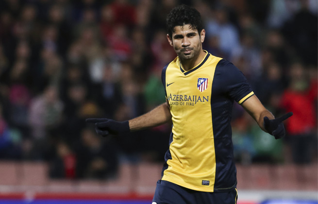 Diego Costa scored a goal for Atletico Madrid in its 2-1 win over Granada on Thursday.