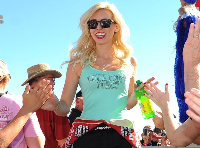 Forces to be reckoned with: The 25-year-old daughter of Funny Car champ John Force had a final round showdown with her Pa in the Mello Yello meet at Las Vegas Motor Speedway. After consulting with the spirit of Dale Earnhardt Sr., the old man prevailed with an elapsed time of 4.06 seconds to the whippersnapper's 4.08 seconds to win his record 16th title.