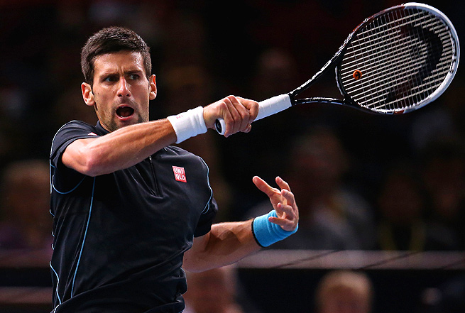 Novak Djokovic shut down Stanislas Wawrinka 6-1, 6-4, winning all six break points in the match.