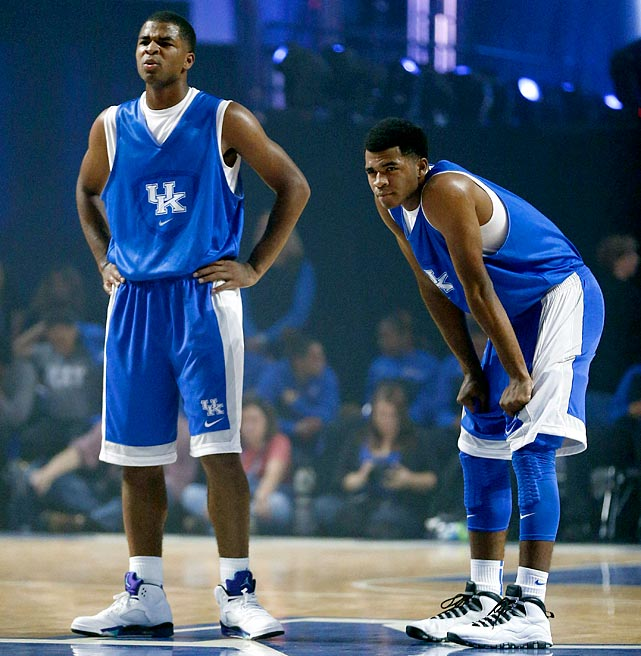 Kentucky freshmen Andrew and Aaron Harrison will play for John Calipari in 2013-14. Coming out of high school, Aaron, the scorer, was the country's top-ranked shooting guard by Rivals.com, with NBA size and a seamless stroke. As a senior, he averaged 23.1 points, 5.2 rebounds and 2.0 steals and was named a McDonald's All-American. Andrew, younger by one minute, is the playmaker, and was also ranked No. 1 at his position. He picked up an All-American nod too, after averaging 14.1 points and 5.1 assists last season while dealing with a hamstring injury.