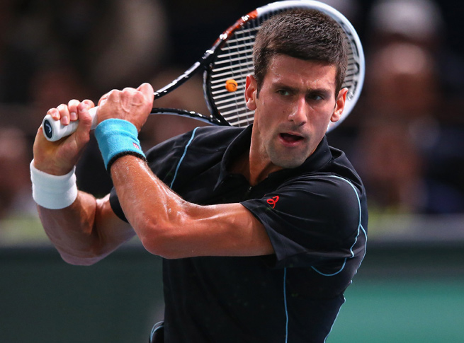 Despite dropping the first set, Novak Djokovic took down Roger Federer in the Paris Masters.