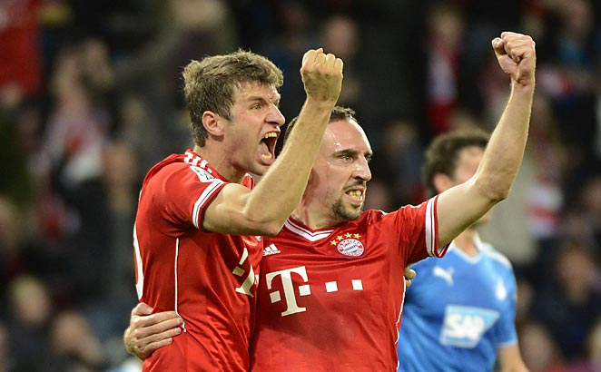 Franck Ribery set up Thomas Muller to score the winner against Hoffenheim on Saturday.