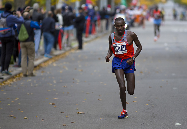 Geoffrey Mutai won another New York City Marathon on a chilly Sunday in the five boroughs.