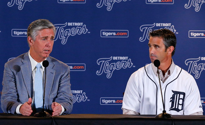 Tigers GM David Dombrowski introduced Brad Ausmus as the team's new manager, replacing Jim Leyland next season.