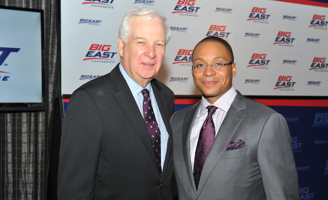 Bill Raftery (left) will be the lead college basketball analyst on Fox Sports 1 this season, teaming with Gus Johnson as the station's top broadcast team.