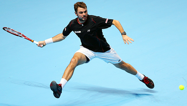Stanislas Wawrinka won his first match in his first appearance at the ATP World Tour Finals.
