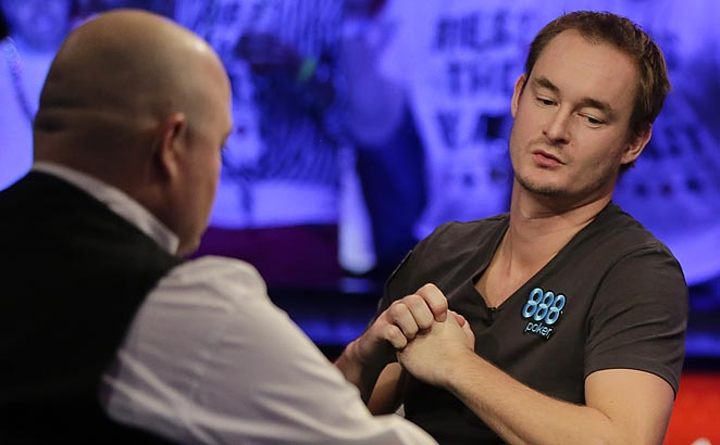 Michiel Brummelhuis was eliminated from the World Series of Poker on Monday.