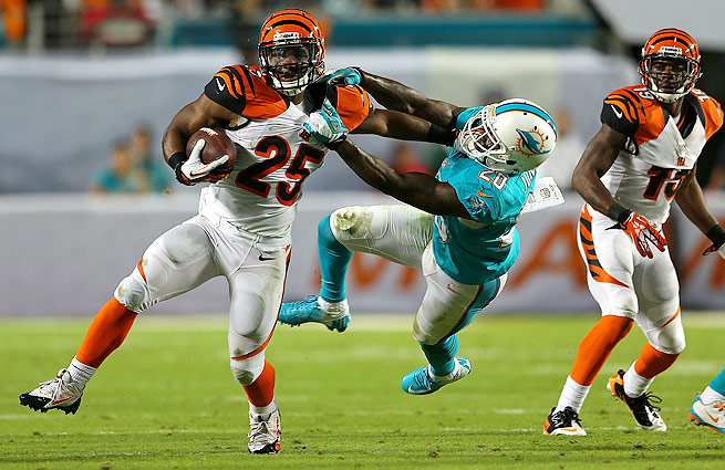 Gio Bernard's 35-yard scamper against the Dolphins in Week 9 was one for the ages.
