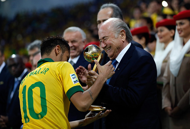 FIFA president Sepp Blatter (right) has suggested putting an end to the World Cup qualifying playoffs for the competition's final berths.