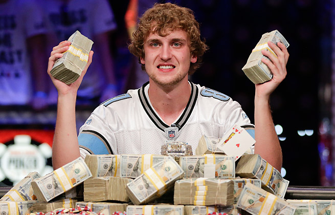Ryan Riess won the World Series of Poker in Las Vegas and its $8.4 million prize.