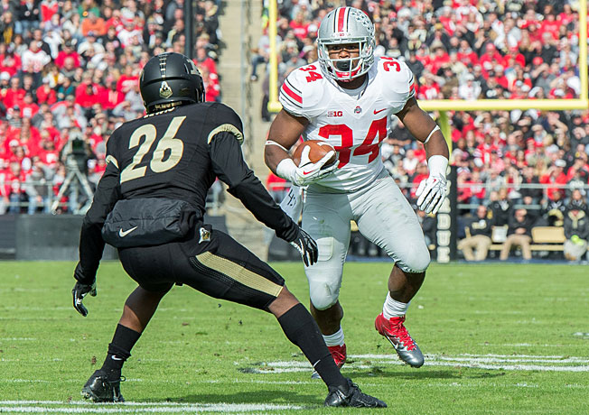 Carlos Hyde and Ohio State likely need one of the other undefeated teams to lose to climb in the polls.