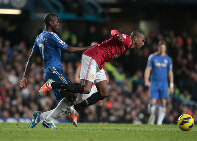 Manchester United's Ashley Young is facing fresh accusations of diving after Tuesday's Champions League match.