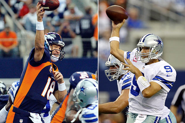 This was a game in which Tony Romo threw for 506 yards, five touchdowns and had a 140 quarterback rating. But it was also a game in which he threw an interception late in the fourth quarter, allowing critics to pile on once again when the Cowboys fell to the Broncos. Despite Romo's late-game anti-heroics, the 51-48 shootout was one of the most entertaining games of the season. Peyton Manning -- 414 yards, four TDs and a pick -- traded touchdowns with Romo throughout entire game, until Danny Trevathan stepped in front of Romo's pass with two minutes to go, giving Denver the ball and setting up Matt Prater to kick the game-winning field goal.