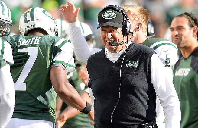 Left for dead before the season, Rex Ryan (right) and the Jets have jumped out to a 5-4 start.