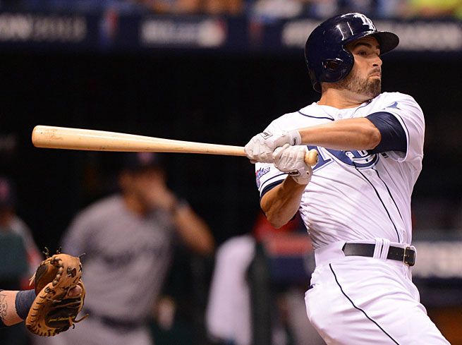 David DeJesus signed a two-year, $10.5 million contract with Tampa Bay.