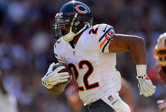 Bears running back Matt Forte has scored double digits in fantasy points every week this season.