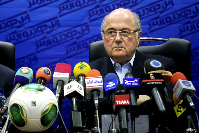 FIFA president Sepp Blatter favors moving the 2022 World Cup to November and December, but won't entertain a January-February event because it would clash with the Winter Olympics.
