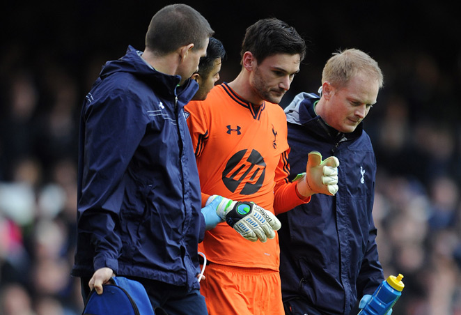 France manager Didier Deschamps expects goalkeeper Hugo Lloris (center) to play against Ukraine after missing time for a head injury.