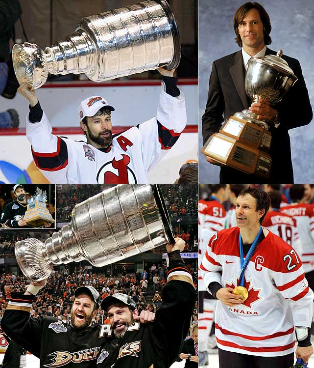 Over the course of his 17-season career with the Devils and Ducks, Niedermayer became hockey's greatest champion. He is the only player to win the Stanley Cup (four), Memorial Cup, World Cup of Hockey, World Junior Championship and gold medals at the Olympics and World Championships. He also won the Norris Trophy as the NHL's best defensman for 2003-04 and the 2007 Conn Smythe Trophy as playoff MVP.